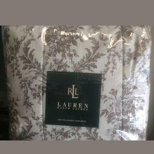Ralph Lauren F/Q Lakeville Brown floral Comforter